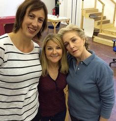 Miranda Hart, Sarah Hadland and Patricia Hodge in final rehearsal (credit to Best Tv Shows, Movies And Tv Shows, Sarah Hadland, Little Britain, Photography Movies, British Humor, And Peggy, Comedy Tv