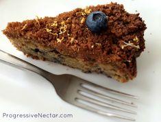 Blueberry Lemon Coffee Cake Paleo