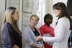 Catherine, Duchess of Cambridge visiting a prison. September 25, 2015.