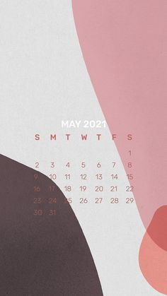 Download premium illustration of Calendar 2021 May template phone
