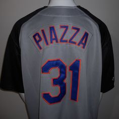 Mike Piazza New York Mets Jersey Extra Large #31 Nike MLB Baseball Sewn Stitched #Nike #NewYorkMets