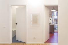CCS  #apartment #refurbishment #interior #nora #rubber #wood #floor #marcoferreri #bardelli #ceramica #tiles #mezza #papera #duck #geometric #graphics #interiorstyle #styling #piuerre #architecture #interiorismo #dezeen #archdaily #designmilk #archilovers #architizer #kitchen #blue #bordeaux