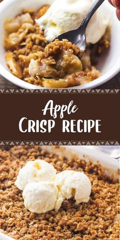 Ingredients Crumble cup all-purpose flour cup packed brown sugar cup large flake oats teaspoon cinnamon Apple Desserts, Fall Desserts, Just Desserts, Delicious Desserts, Healthy Desserts, Healthy Recipes, Best Dessert Recipes, Fall Recipes, Oreo