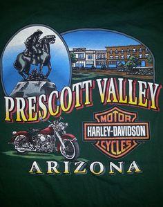 HARLEY DAVIDSON MOTORCYCLES MENS XL T-SHIRT Prescott Arizona #HarleyDavidson #GraphicTee