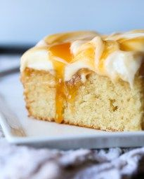 Easy Caramel Cake - Cookies and Cups