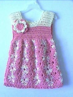 Crochet patterns free: This beautiful dress is very pretty easy to do. se...