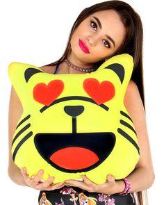 Cat emoji pillow ($32)
