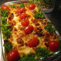 BROILERIGRATIINI - Kotikokki.net - reseptit Low Carb Recipes, Cooking Recipes, Healthy Recipes, Healthy Food, Food Tasting, Deli, Vegetable Pizza, Chicken Recipes, Good Food
