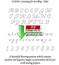 Letters for Scrolling - Elise Downloadable Pattern Set PDF