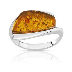 #BAGUE argent 925 ambre #MATY #Bijoux - www.maty.com
