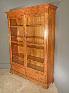 Two Door Oak Bookcase