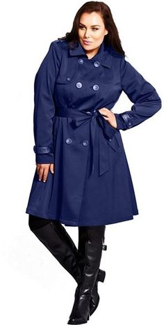 b8790961392da 17 Best plus size trench coat outfit images