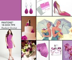 Pantone announced their new colors for Spring 2014 and Radiant Orchid has already made a huge impact on the coming trends. This fuschia purple...