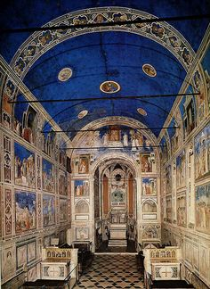 Giotto, Arena Chapel, interior, painted 1302-5