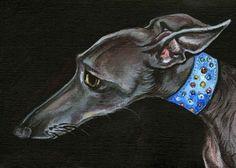 Italian Greyhound Art Dog Print by AlmostAnAngel66 on Etsy