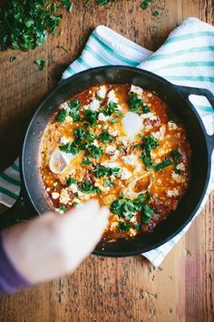 Recipe: Shakshuka with Kale and Goat Cheese - Kinfolk