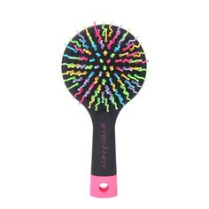 Docooler Rainbow Volume S Brush Hair Curl Magic Accessory Perm Wave Straight Beauty Comb with Mirror -- Check this awesome product by going to the link at the image.