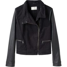 Rag & Bone / Jean Moto Jacket (805 LTL) ❤ liked on Polyvore
