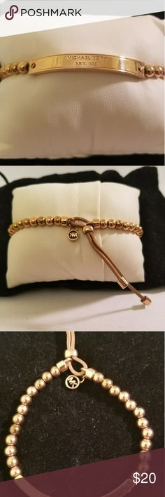Michael Kors stretch bracelet Michael Kors rose gold stretch bracelet worn twice Michael Kors Jewelry Bracelets