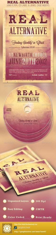 Real Alternative Flyer and CD Template — Photoshop PSD #underground #cd jewel insert • Available here → https://graphicriver.net/item/real-alternative-flyer-and-cd-template/2738329?ref=pxcr