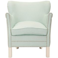 Safavieh Posh Robins Egg Blue Arm Chair | Overstock.com Shopping - Great Deals on Safavieh Living Room Chairs
