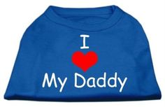 Mirage Pet Products 12-Inch I Love My Daddy Screen Print Shirts for Pets, Medium, Blue >>> Learn more by visiting the image link. (This is an affiliate link and I receive a commission for the sales)