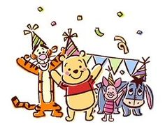 Tigger, Winnie The Pooh, Piglet, and Eeyore