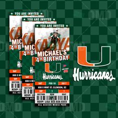 Miami Hurricanes Football - Invite 2 - Product 1