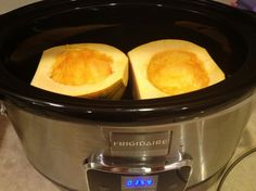 Easy Acorn Squash in the Slow Cooker