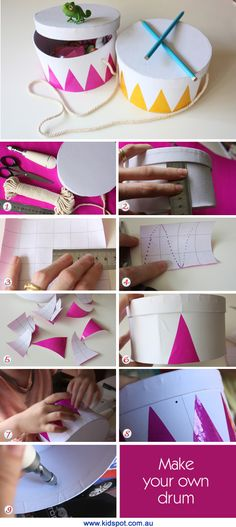 Make your own drum (complete with secret storage space)
