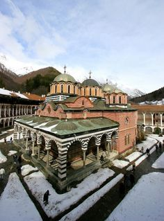 The Monastery of Saint Ivan of Rila, better known as the Rila Monastery is the largest and most famous Eastern Orthodox monastery in Bulgaria. Beautiful Places In The World, Places Around The World, Oh The Places You'll Go, Places To Visit, Around The Worlds, Sky Resort, Religious Architecture, Place Of Worship, Eastern Europe