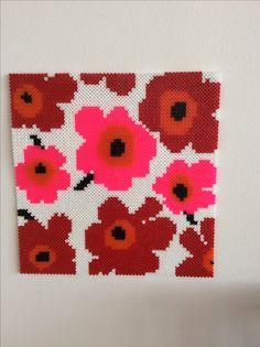 Marimekko flowers hama perler beads by Dorte Witterseh
