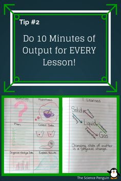 Here are 5 ideas to up the level of engagement when working in science notebooks!