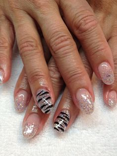 Nails I did today...silver tiger
