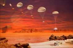 "Scientists Celebrate Ten Years since Cassini-Huygens Landing on Titan 1/16/15 by Sci-News.com Artist concept showing the descent and landing of Huygens. (Image credit: NASA / JPL / ESA) Mona Evans, ""Titan - Planet-sized Moon of Saturn"" http://www.bellaonline.com/articles/art182860.asp"