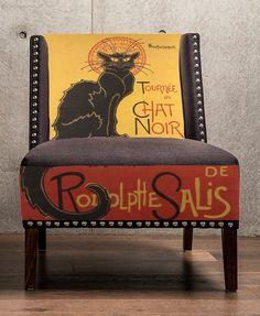 """From """"chair candy"""".  Live le chat noir. Love funky chairs. Win!"""