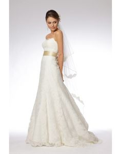 Beautiful & Unique dress - Beading Belt Bow Draping Sweetheart Lace A-line Wedding Dress on sale - Persun
