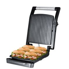 ZZ SM312 Gourmet Health and Contact Grill Panini Press and Sandwich Maker with Large Cooking Surface * Want additional info? Click on the image.