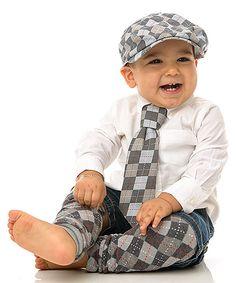 Look at this #zulilyfind! My Little Legs Gray Argyle Hat Set - Infant, Toddler & Boys by My Little Legs #zulilyfinds