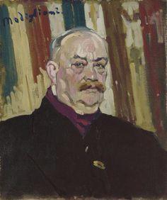 Amedeo Modigliani, Portrait de Joseph Lévin, oil on canvas 21 5/8 x 18 1/8 in. Painted circa 1909