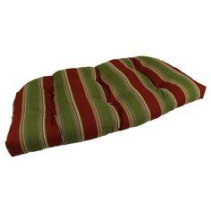 Lava Hampton Bay Stripe Sunbrella Outdoor U Settee Cushion - LAVA11-0048