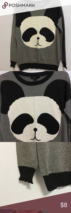 Forever 21 Panda sweater PANDASSSSSS! It's super cute and comfortable to wear. Forever 21 Sweaters