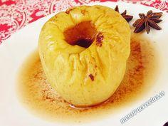 Manzana asada con canela, en el microondas. Receta fácil - http://www.monstruorecetas.es/2014/11/manzana-asada-canela-horno-microondas.html