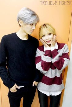 Hyuna and Hyunseung #Troublemaker Come visit kpopcity.net for the largest discount fashion store in the world!!