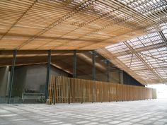 Nakagawa-machi Bato Hiroshige Museum of Art Bamboo Architecture, Interior Architecture, Interior Design, Awning Roof, Kengo Kuma, Pergola Canopy, Roof Design, Window Coverings, Art Museum