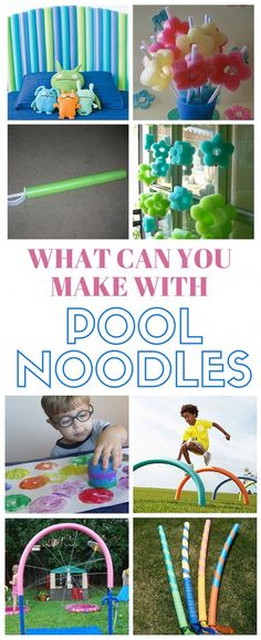You can make so many fun and useful things with only a pool noodle. This collection of ideas and crafts will show you how. - Diy For Teens Swim Noodles, Noodles Games, Diy For Kids, Crafts For Kids, Piscine Diy, Pool Noodle Crafts, Fun Projects, Summer Fun, Summer Games