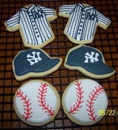 Yankees Sugar Cookies, via Flickr.