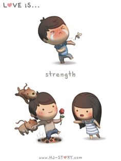 HJ-Story :: Love is... Strength | Tapastic - image 1