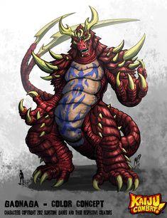 Kaiju Combat - Gaonaga by KaijuSamurai.deviantart.com on @deviantART
