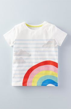 Mini Boden Stripe Graphic Tee (Toddler Girls, Little Girls & Big Girls) | Nordstrom